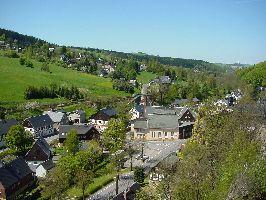 Blick auf den Ortskern von Rechenberg