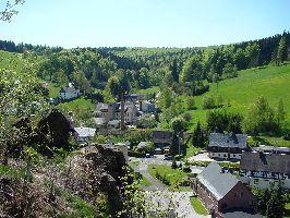 Blick vom Felsen auf Rechenberg