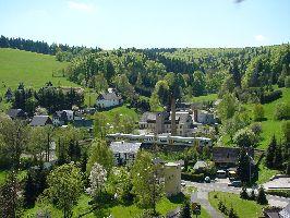 Blick auf die Freiberger Eisenbahn in Rechenberg