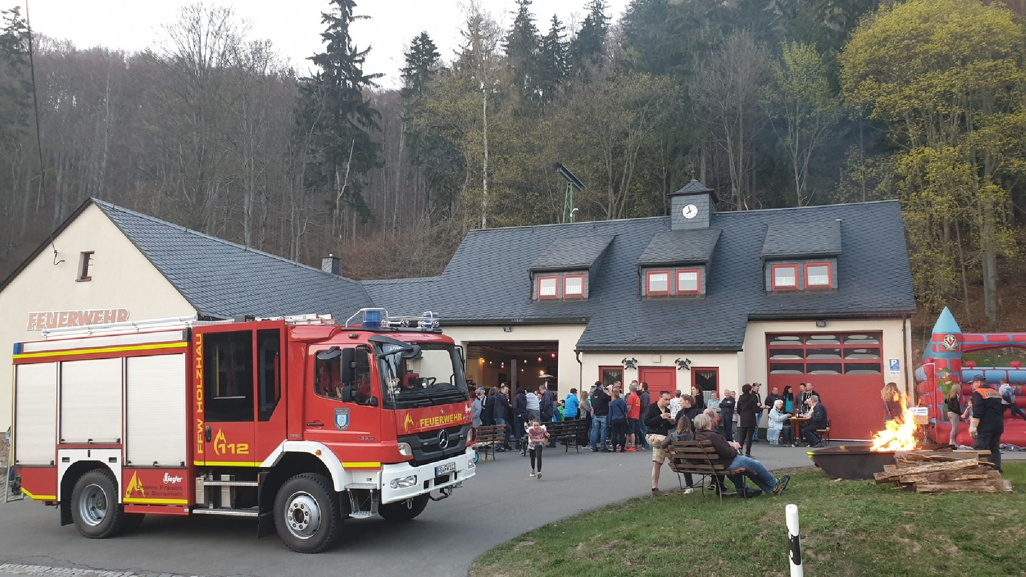 Osterfeuer in Holzhau