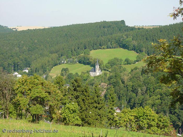 Blich auf die Rechenberger Kirche