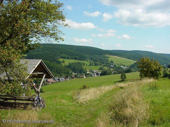 Blick auf Rechenberg und Holzhau