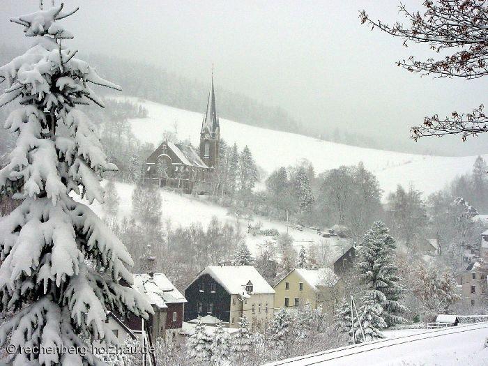 Blick auf die Rechenberger Kirche