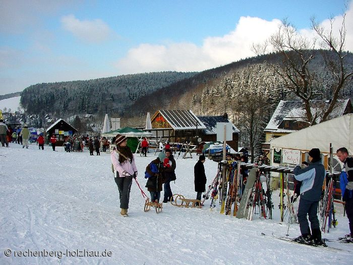 am Skilift in Holzhau