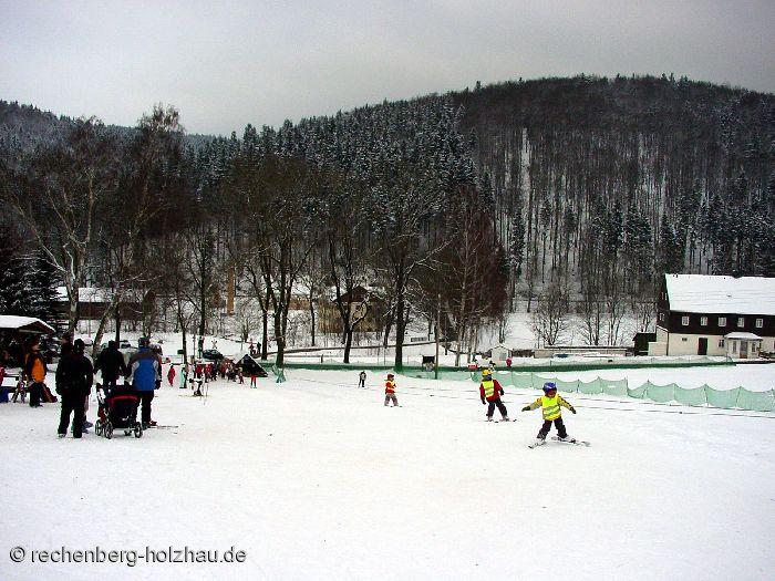 Kinderlift am Skihang in Holzhau